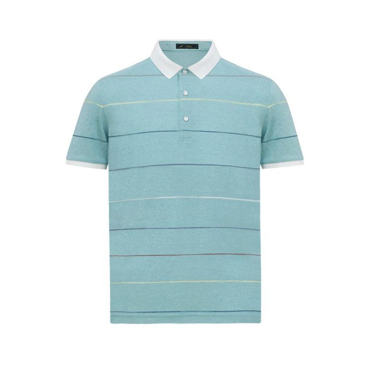 跃速男翻领短T恤 款号:11907(浅绿色)