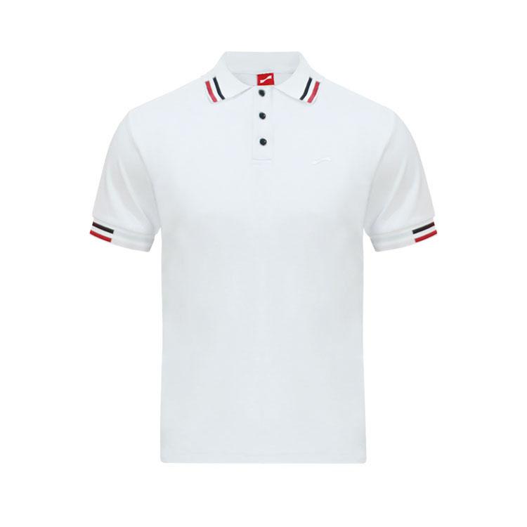 跃速男士纯色短袖休闲T恤 款号:11916(白色)