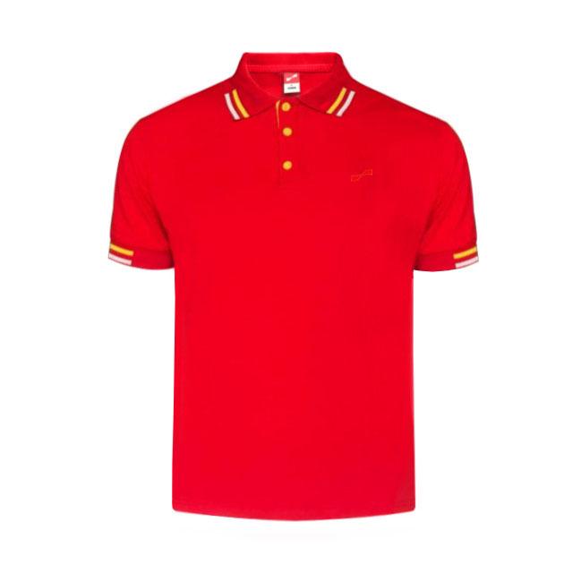 跃速男士纯色短袖休闲T恤 款号:11916(红色)