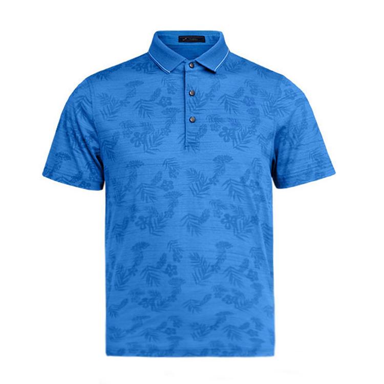 跃速男士翻领短袖T恤 款号:A11812(蓝色)