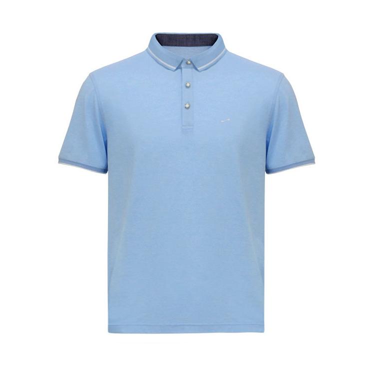 跃速男士春纯色短袖T恤 款号:11909(天蓝色)