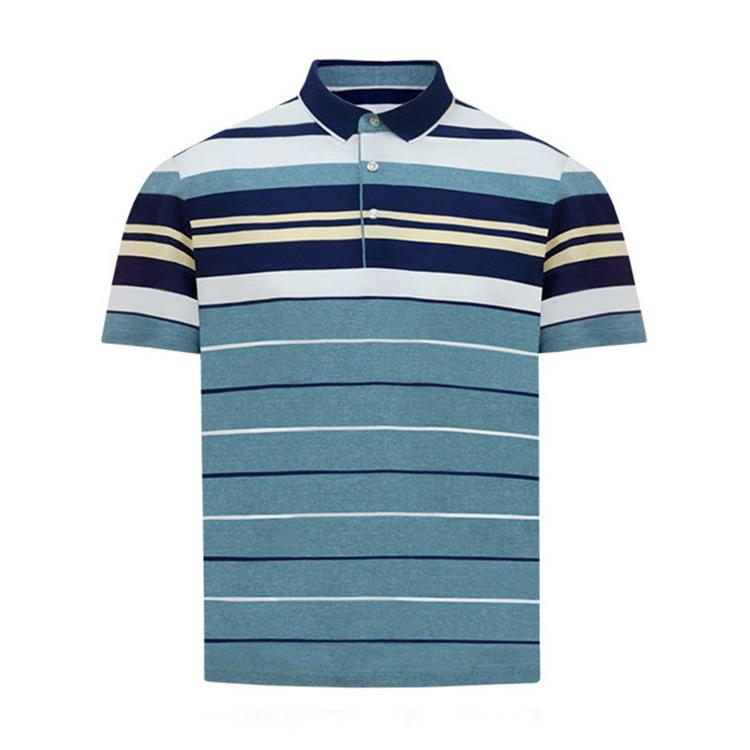跃速男夏翻领短T恤 款号:11908(蓝色)