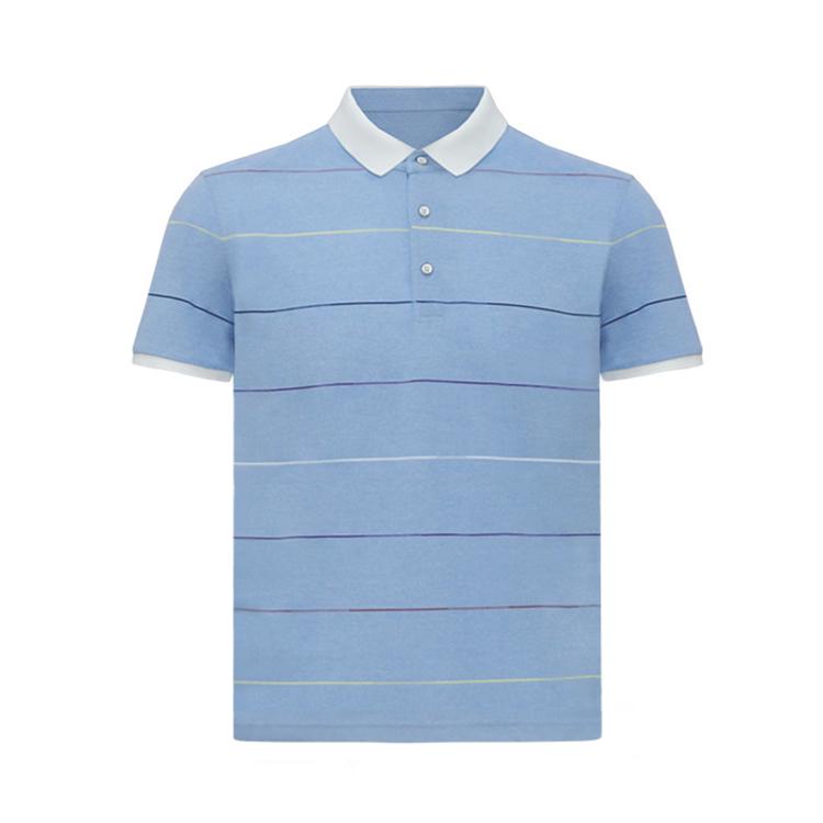 跃速男翻领短T恤 款号:11907(浅蓝色)