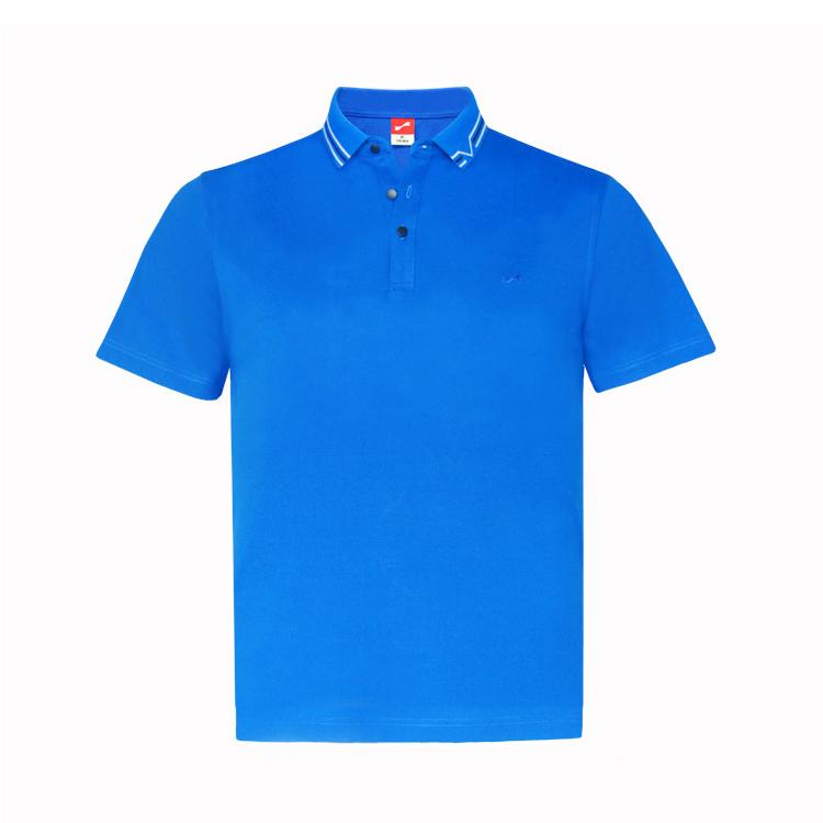 跃速男翻领短T恤  款号:11803(彩蓝)