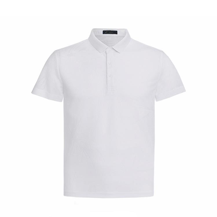 纯色跃速休闲翻领套头T恤 款号:11815