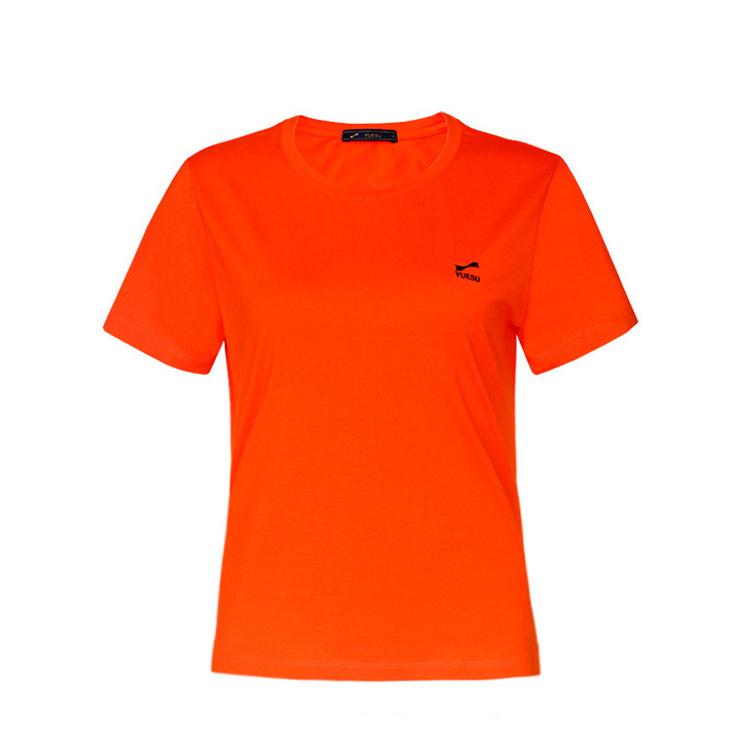 跃速女士圆领短袖T恤 款号21801(红色)