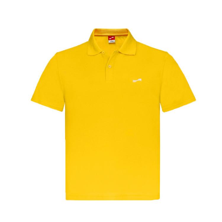 跃速男士翻领短T恤 款号:11807(黄色)
