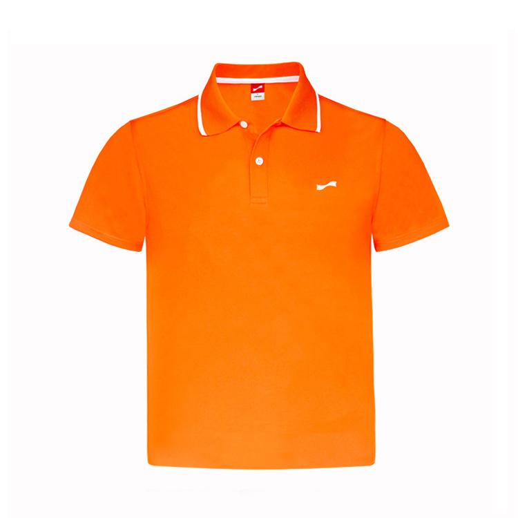 跃速男士翻领短T恤 款号:11807(橙红)
