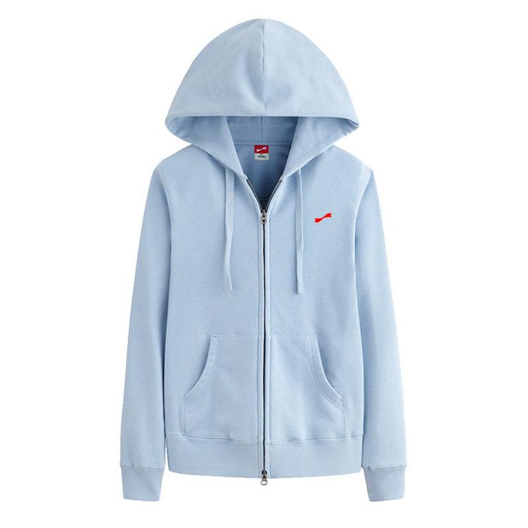 跃速女子连帽运动休闲长袖T恤 款号:219006(天蓝色)