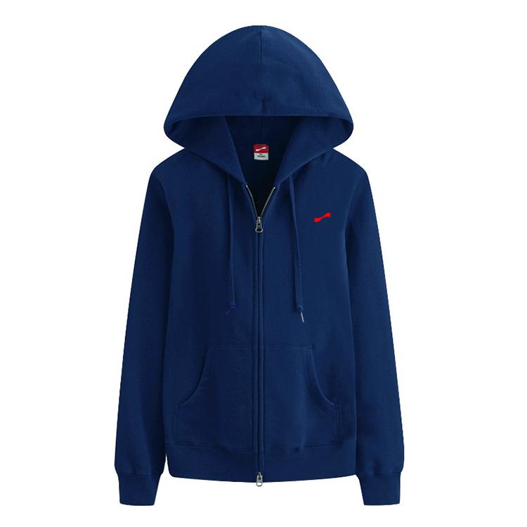 跃速女子连帽运动休闲长袖T恤 款号:219006(深蓝色)