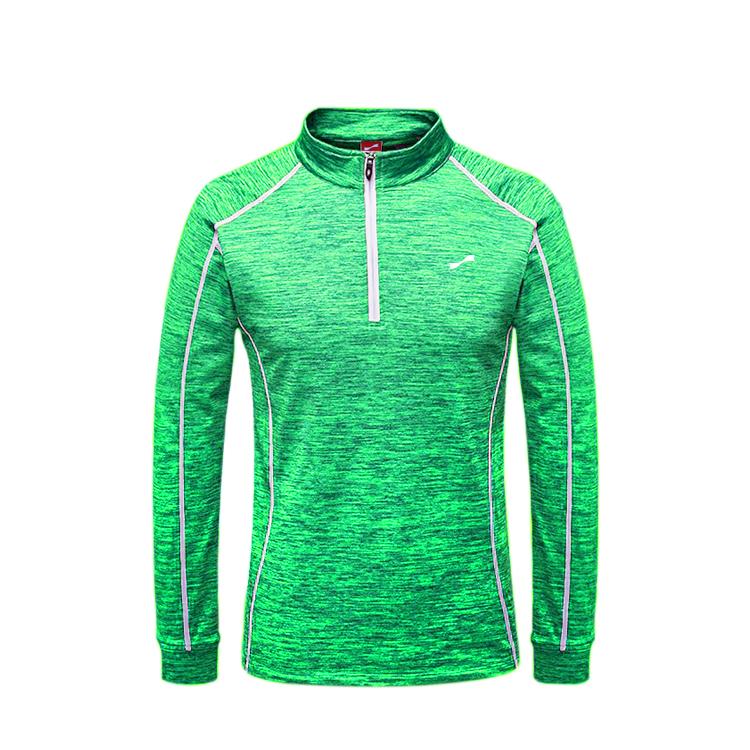 跃速户外运动长袖速干衣春秋薄款 款号:219009(绿色)