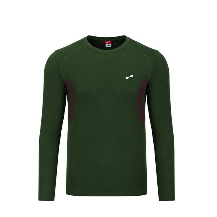 跃速男子户外圆领长袖T恤 款号:219010(绿色)