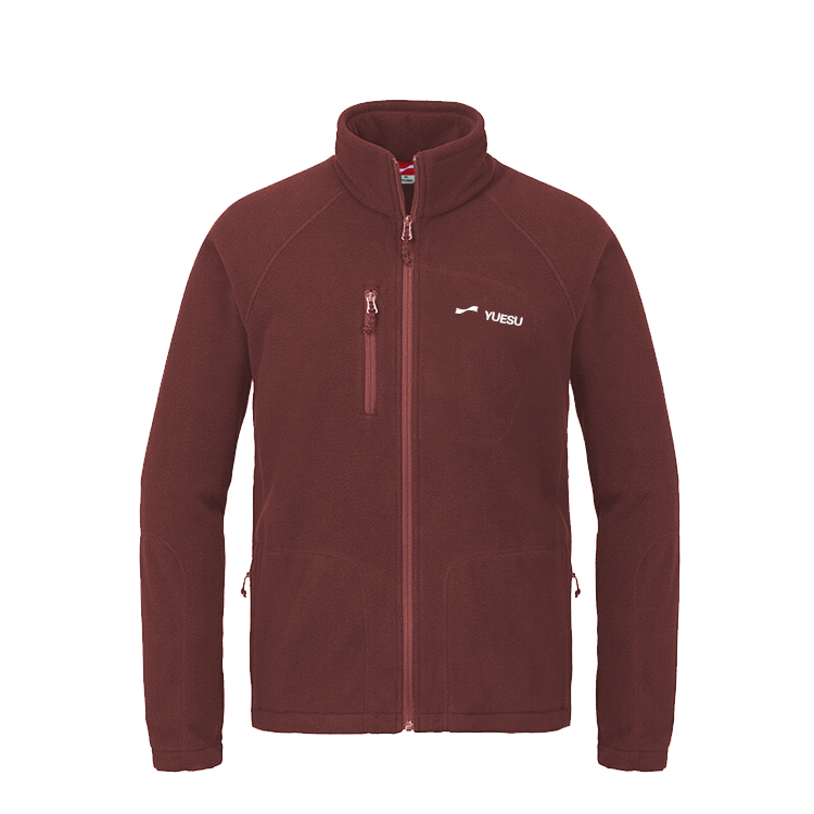 跃速户外男装保暖舒适开衫抓绒衣外套 款号:219011(咖啡色)