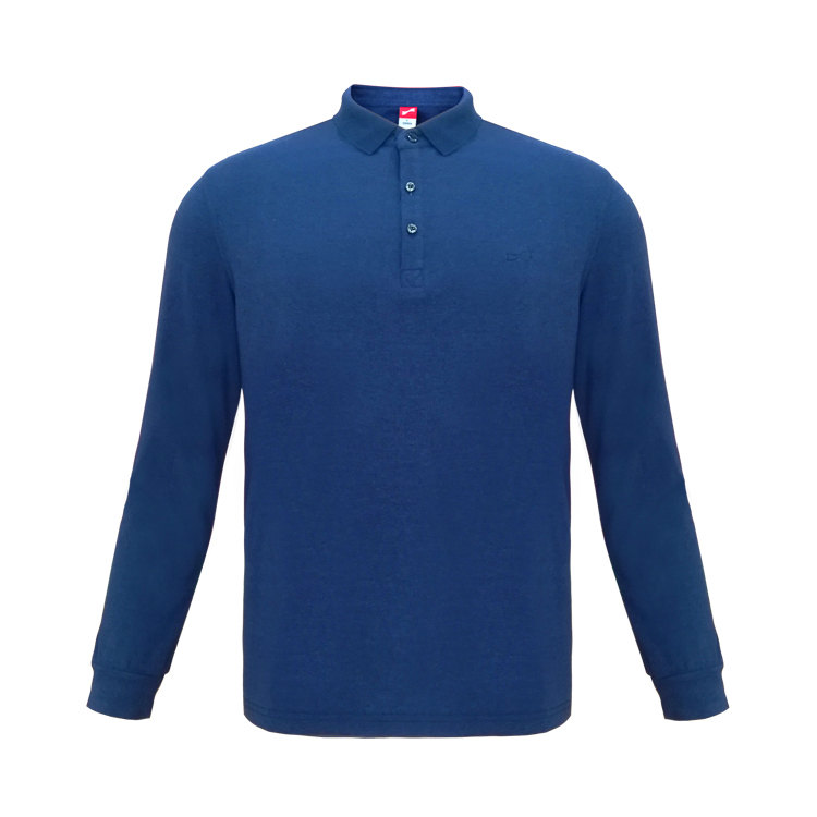 跃速男子长袖休闲T恤 款号:13903款(蓝色)