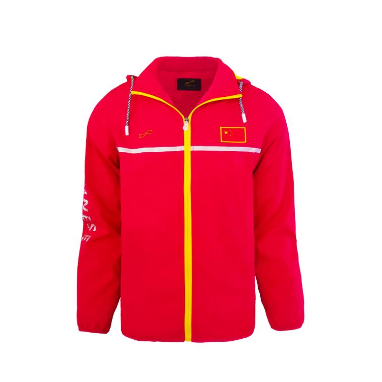 跃速秋季薄款运动外套 款号:13910(红色)