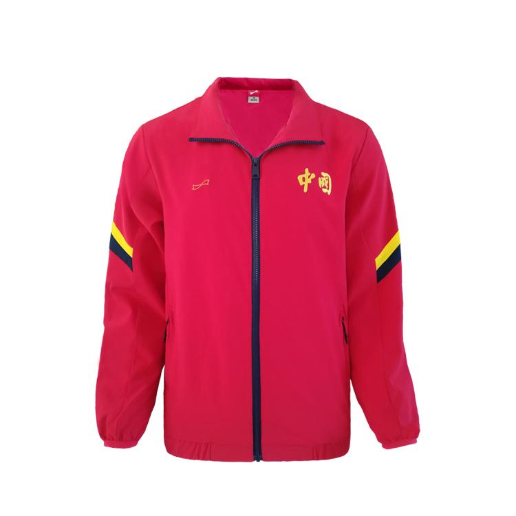 跃速男子秋季红色风衣外套 款号:13908