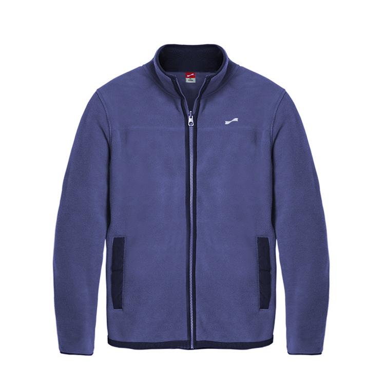 跃速经典运动户外保暖抓绒衫 款号:219014(蓝色)
