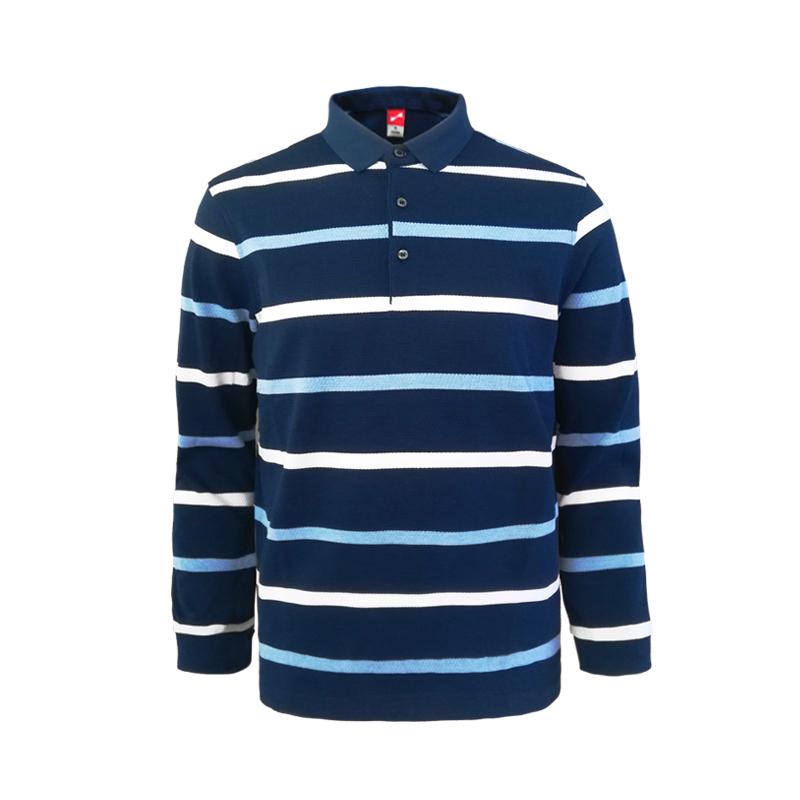 跃速体育男子长袖T恤 跃速男士春秋季上衣 款号:13904 蓝/白