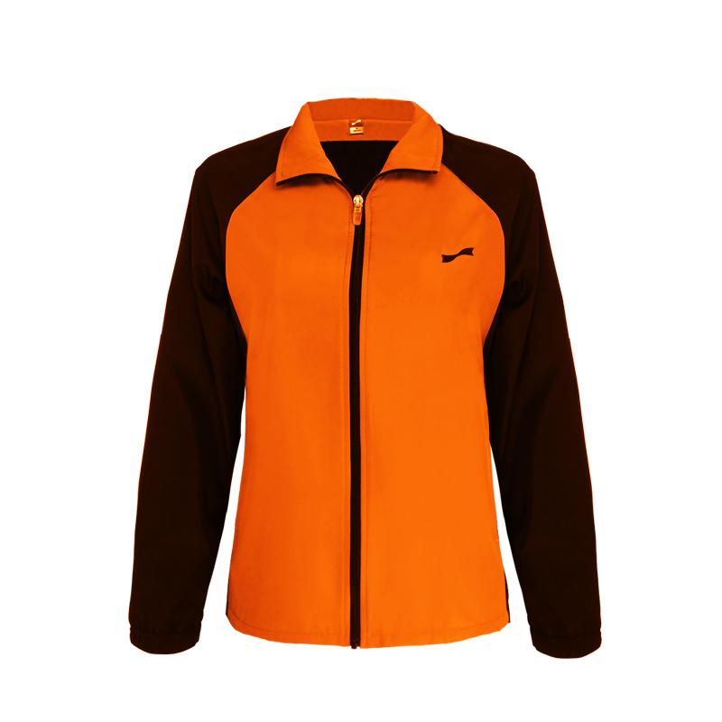 跃速体育女子运动风衣 跃速春秋季薄款上衣外套 款号:23316 橙黄/黑
