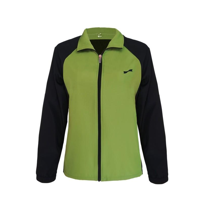 跃速体育女子运动风衣 跃速春秋季薄款上衣外套 款号:23316 草绿/宝蓝