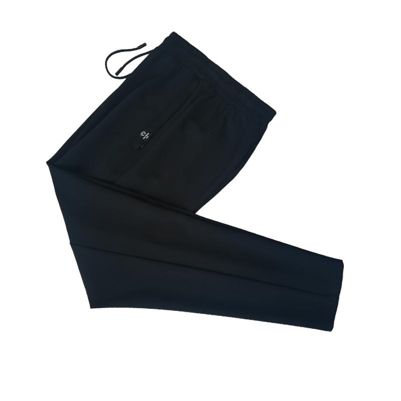 跃速男子春秋季运动长裤 跃速体育休闲长裤 黑色 款号:14802