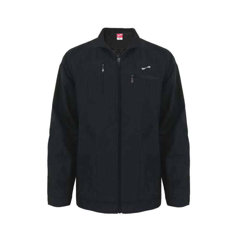 跃速男子运动休闲风衣 春秋季上衣外套 黑色 款号:1375