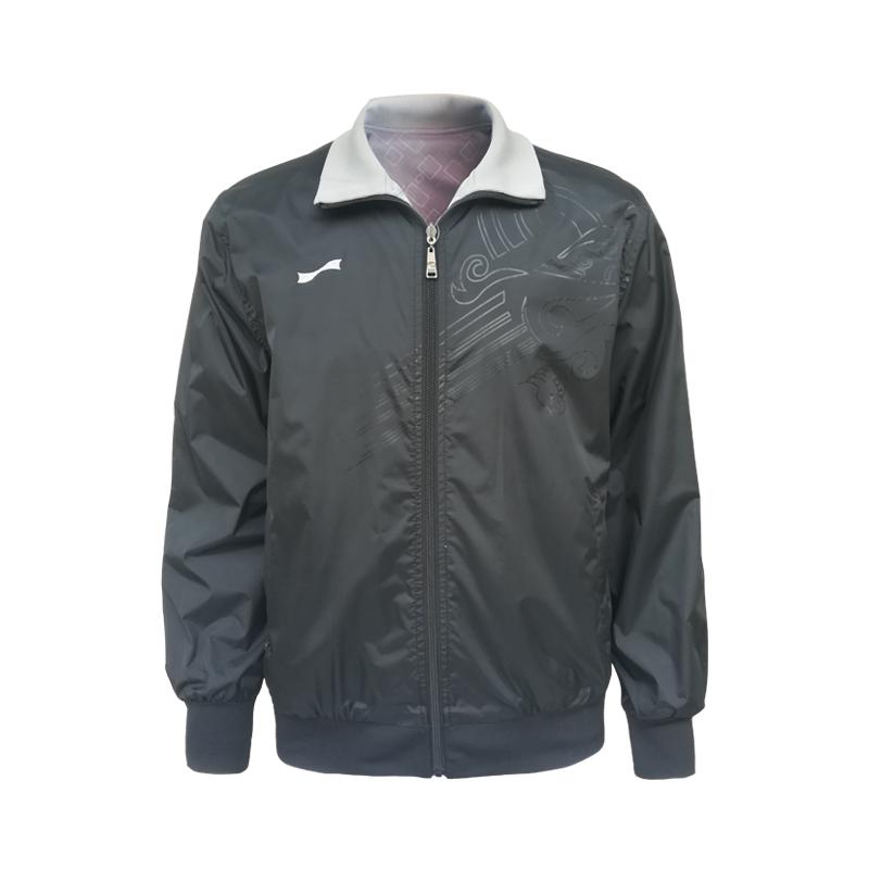 跃速男子运动户外运动外套 双层加厚休闲上衣 黑色 款号:1308