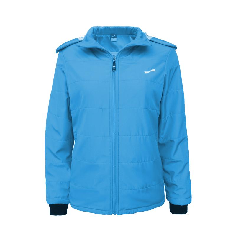 跃速女子休闲棉服外套 跃速女士冬季保暖上衣 天蓝色 款号:23331