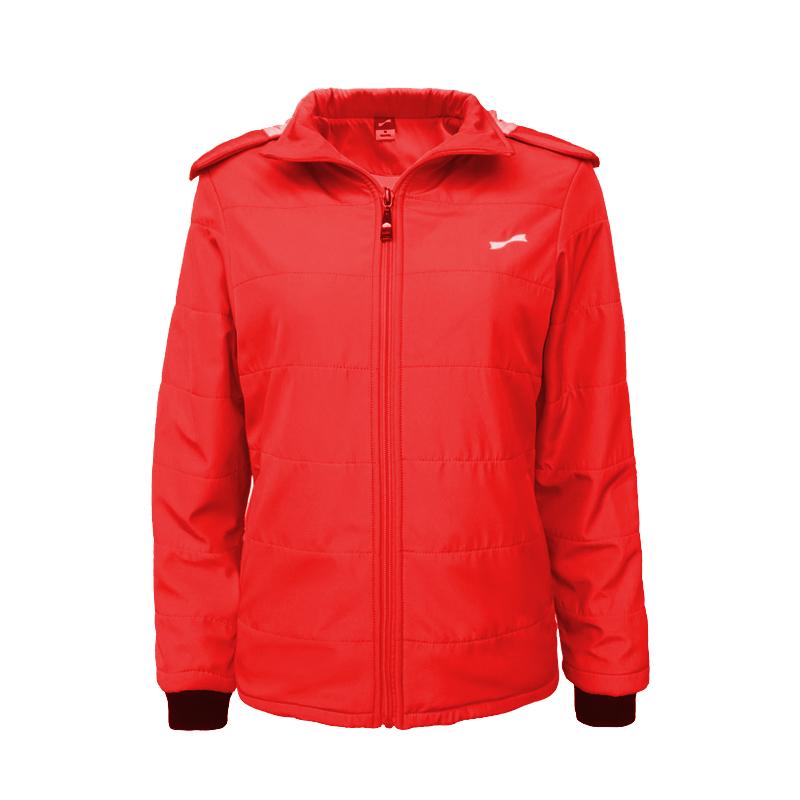 跃速女子休闲棉服外套 跃速女士冬季保暖上衣 红色 款号:23331