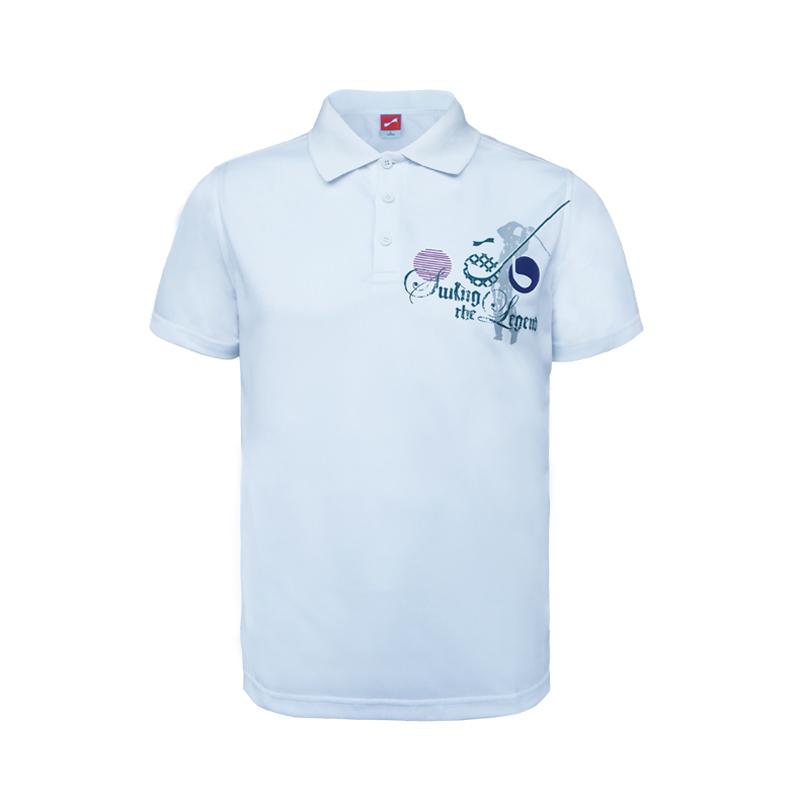 跃速男子夏季短袖休闲T恤 运动休闲上装 白色 款号:11309