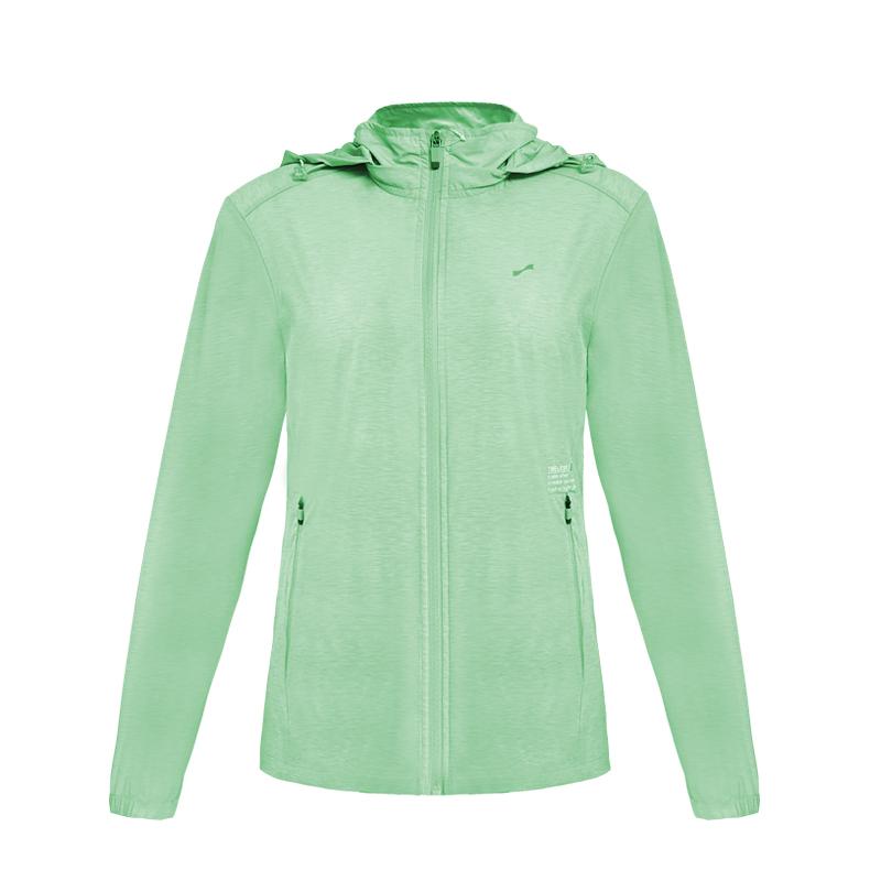 跃速女子夏季薄款防晒外套 浅绿色 款号:21010