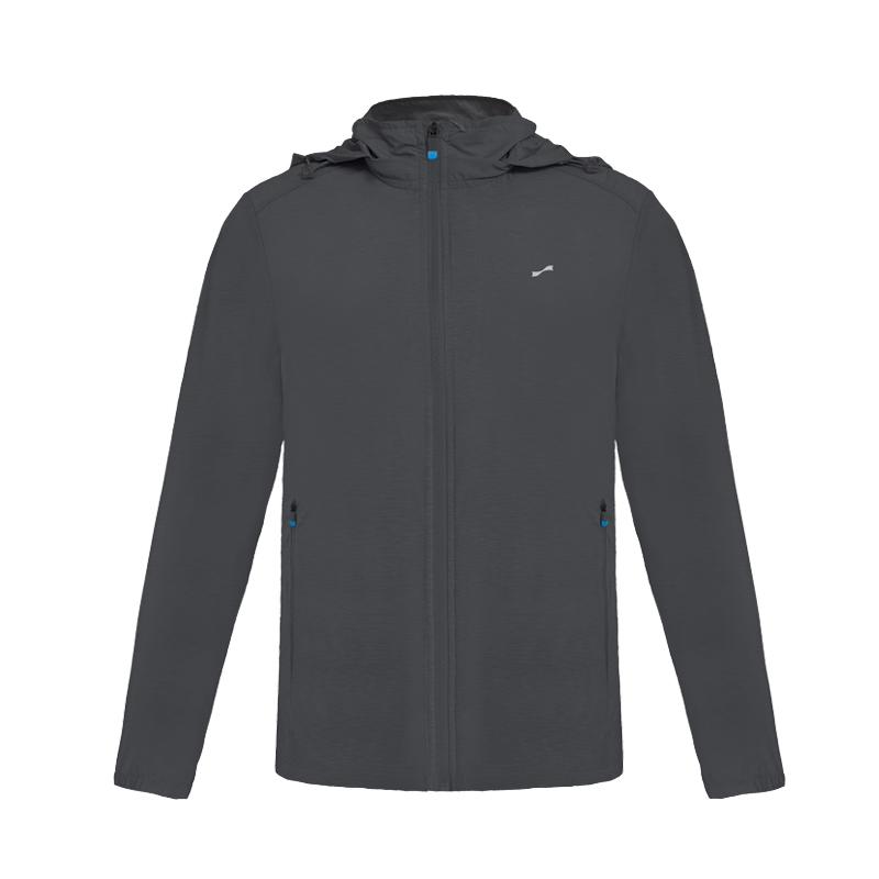 跃速男子夏季薄款连帽防晒风衣外套 深灰色 款号:11010