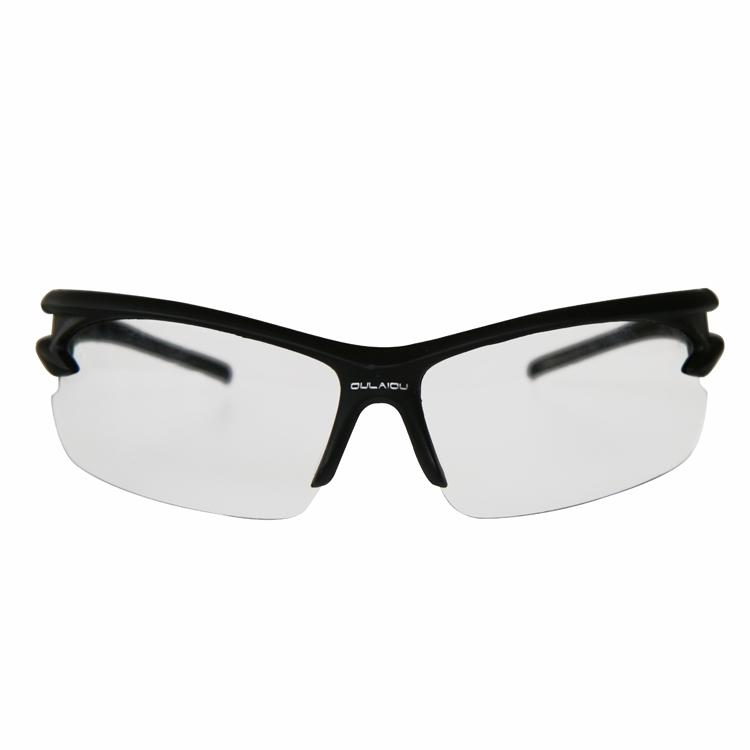 骑行眼镜(黑框透明无色)
