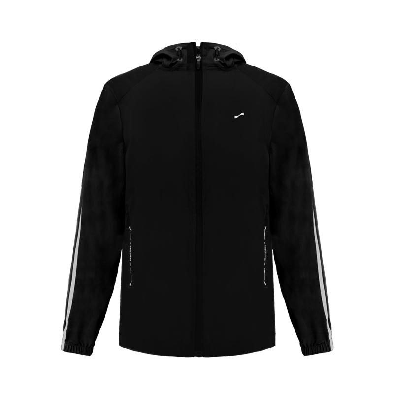 跃速男子经典条纹袖防晒上衣外套 黑色 款号:11011