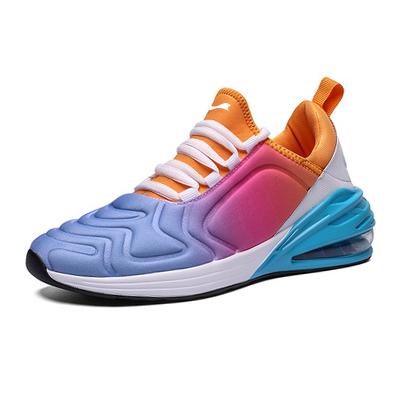 跃速男子气垫运动鞋 桔/紫色 款号:11004
