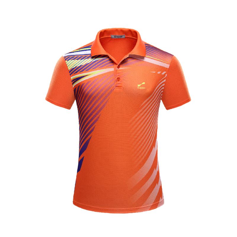 跃速女士女翻领T恤 短袖运动衫 橙色 款号:21001
