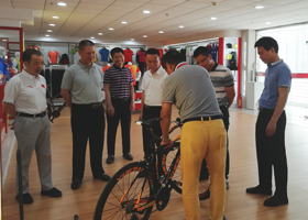 广东省体育局领导到跃速公司考察