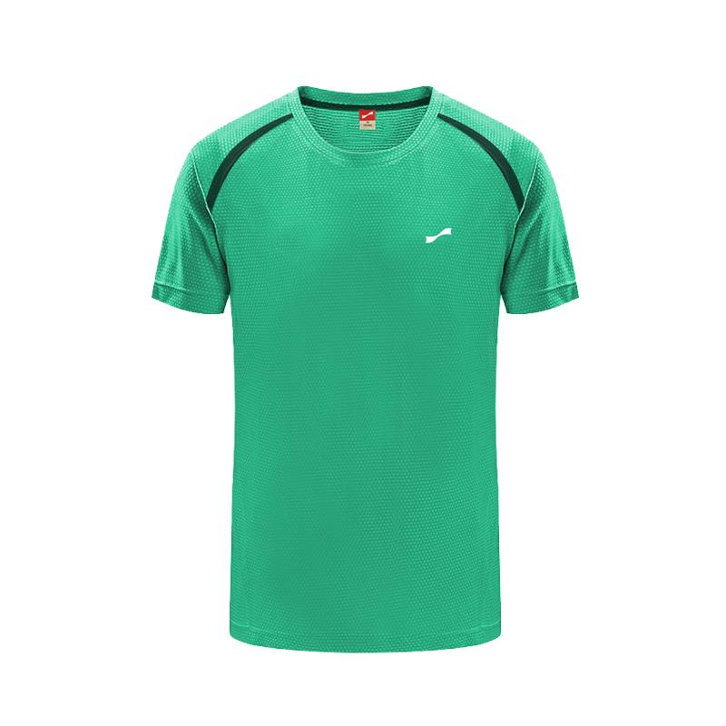 夏季男子纯色时尚运动圆领速干休闲T恤 绿色 款号:B10726