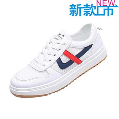 夏季户外跑步鞋透气运动鞋休闲板鞋男子 款号:X11106(白黑款)