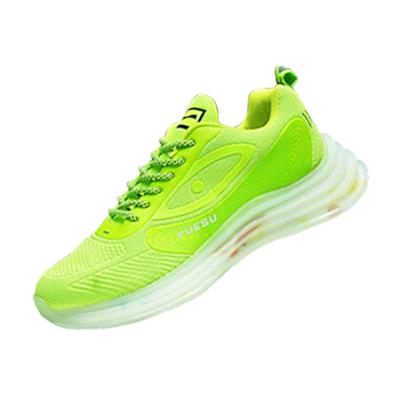 夏季户外跑步鞋透气运动鞋休闲鞋网跑鞋男子 款号:11020(荧光绿)